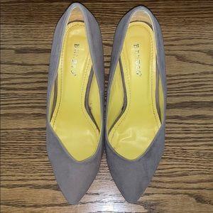 Grey/brown heels